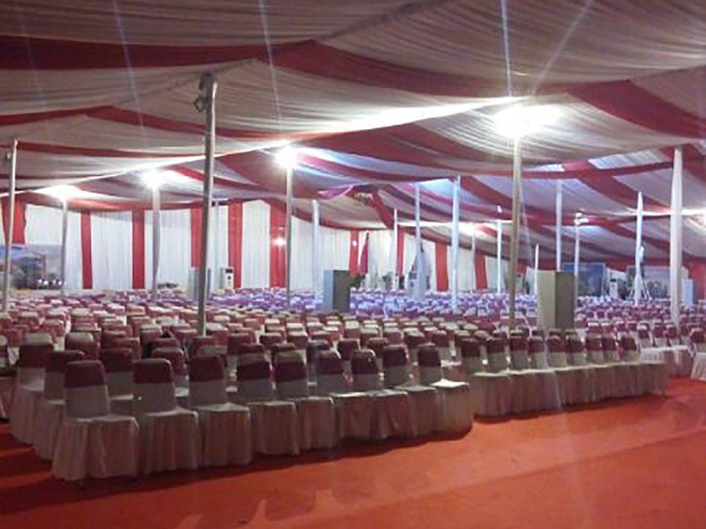 Tenda Dekorasi VIP Konvensional Event Peresmian Perumahan Bekasi