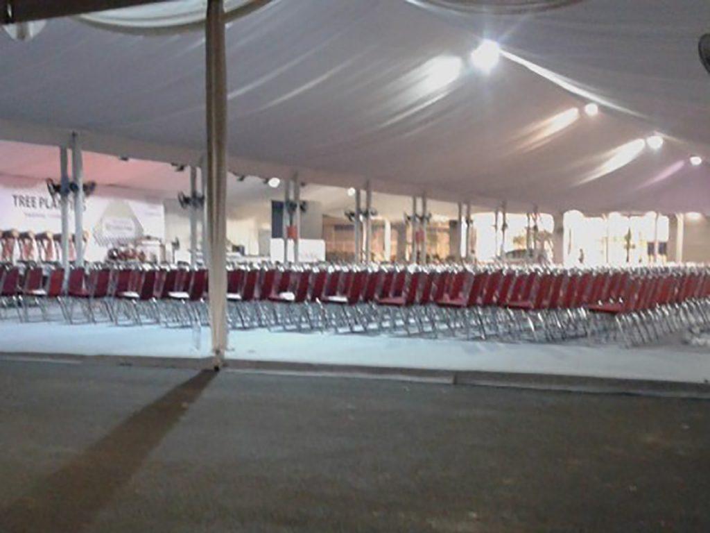 Tenda Roder Dekorasi Polos Event Peresmian Mall BSD Tangerang