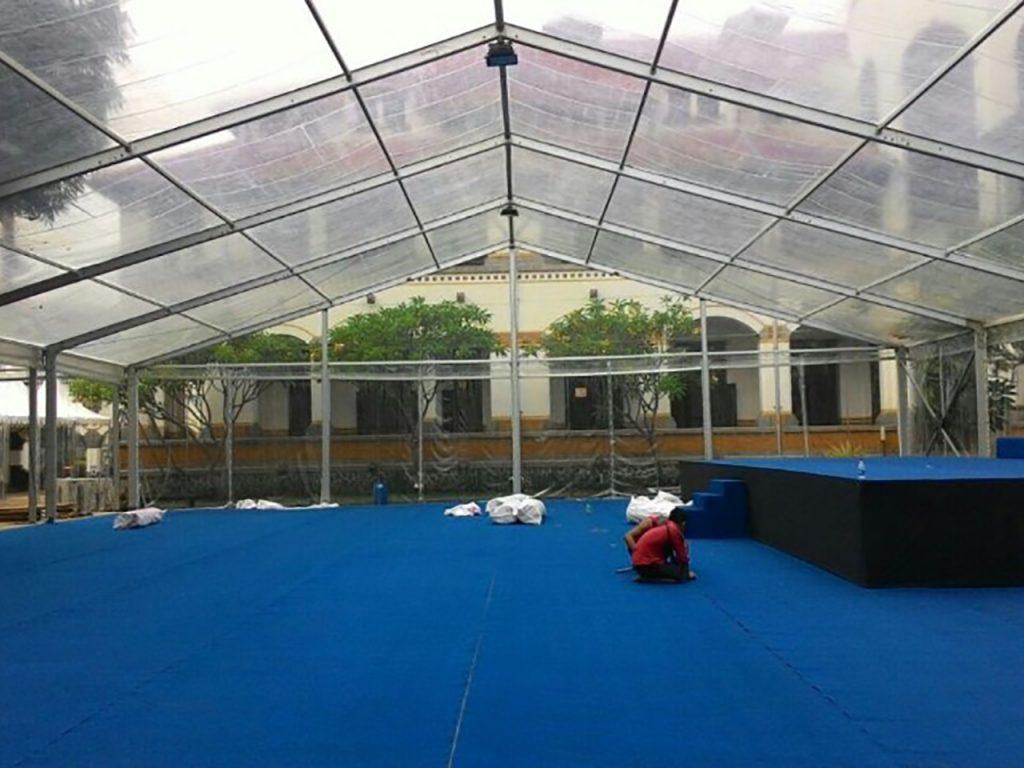 Tenda Roder Transparan Event Kantor