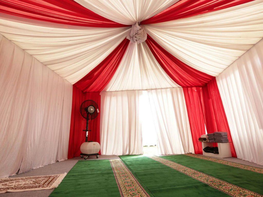 Tenda Sarnafil Dekorasi Ruangan Musholah